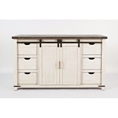 Westhoff 6 Drawer Accent Cabinet Color: White