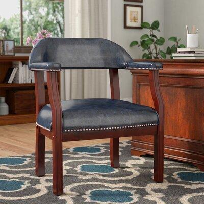 Pershore Vinyl Guest Chair Casters: No, Color: Blue