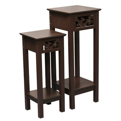 Gilmartin 2 Piece Nesting Telephone Table Set Color: Brown