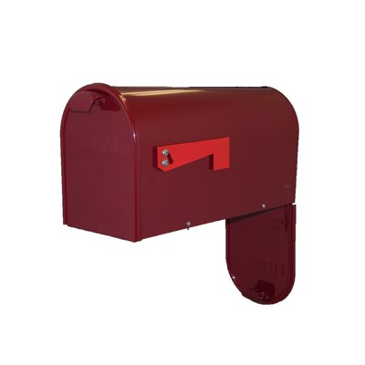 Newport Post Mounted Mailbox Mailbox Color: Burgundy