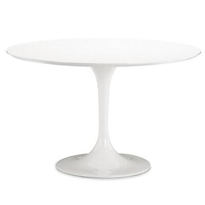 """Simbula Dining Table Size: 29"""" H x 42"""" W x 42"""" D, Color: White"""