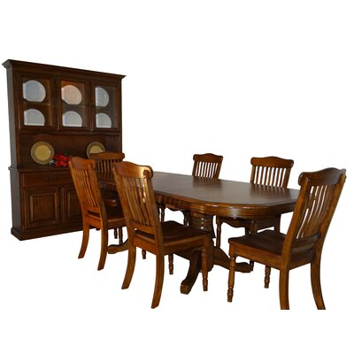Neely Self Storage Leaves 7 Piece Extendable Dining Set