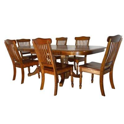 Negron Long Double Pedestal 7 Piece Extendable Dining Set