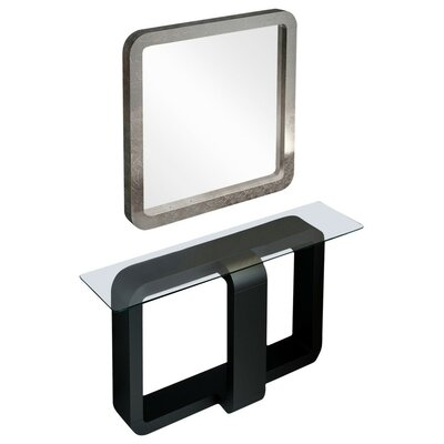 "Schuller Module with Mirror Size: 29.5"" H x 39.4"" W x 15.6"" D, Finish: Matte"