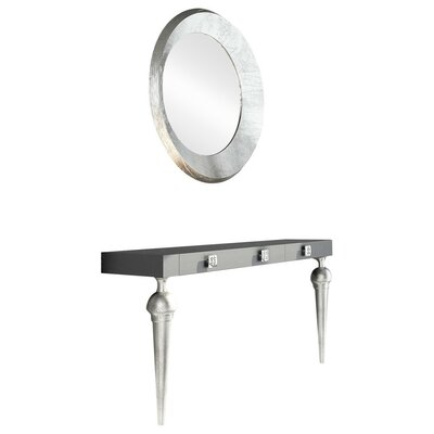 "Labarge Module with Mirror Size: 29.5"" H x 39.4"" W x 15.6"" D, Finish: High Gloss"
