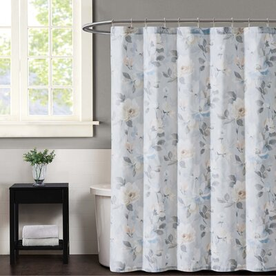 Soft Floral Shower Curtian