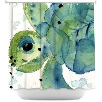 Hulsey Sea Turtle Shower Curtain