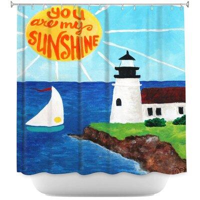 Sunshine Lighthouse Shower Curtain