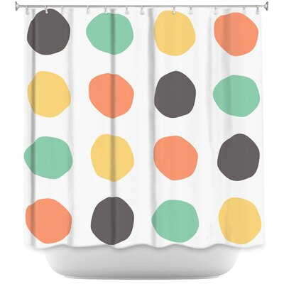 Cheung Oblong Dots Square Shower Curtain