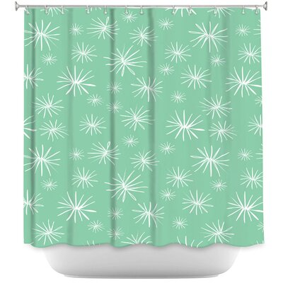 Dandelions Parsley Shower Curtain