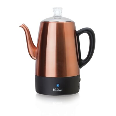 Stainless Steel Electric Percolator Size: 64 oz.
