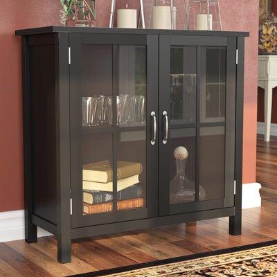 Digby Wood 2 Door Accent Cabinet Color: Black