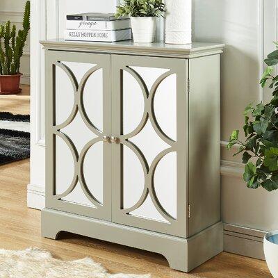 Melfa Mirrored Accent Cabinet Color: Gray