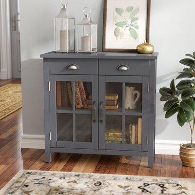 Dillsboro Wood 2 Door Accent Cabinet Color: Gray