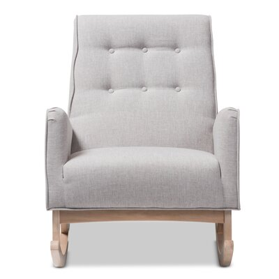 Cranford Rocking Chair Fabric: Grayish Beige
