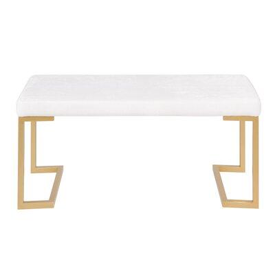Lang Metal Bench Upholstery: White
