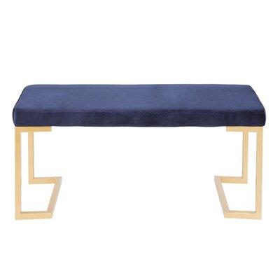 Lang Metal Bench Upholstery: Blue