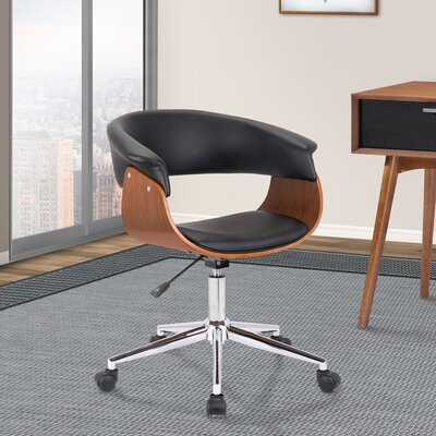 Casler Office Chair Color: Black