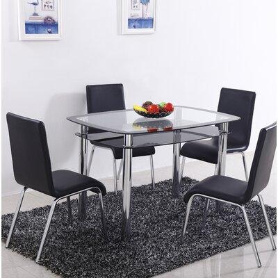 Scalise 5 Piece Dining Set Color: Black