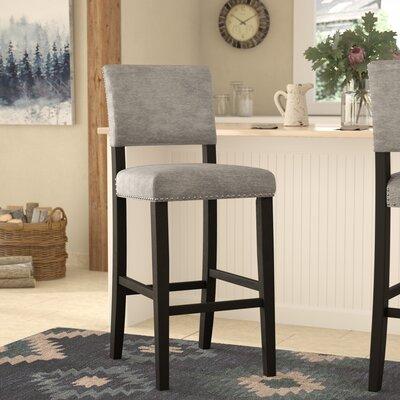 """Boyabat Bar & Counter Stool Seat Height: Bar Stool (30"""" Seat Height), Color: Gray"""