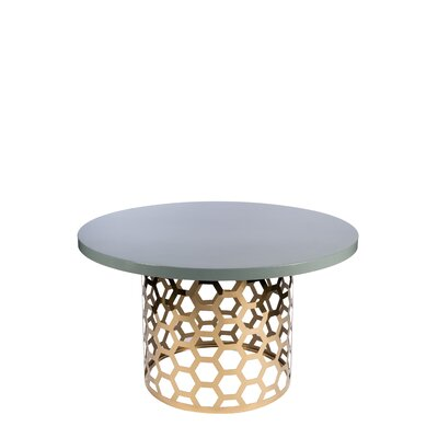 """Laguna Dining Table Color: Gray/Gold, Size: 30"""" H x 54"""" W x 54"""" D"""