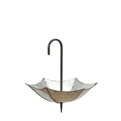 Hankerson Metal Galvanized Umbrella Planter