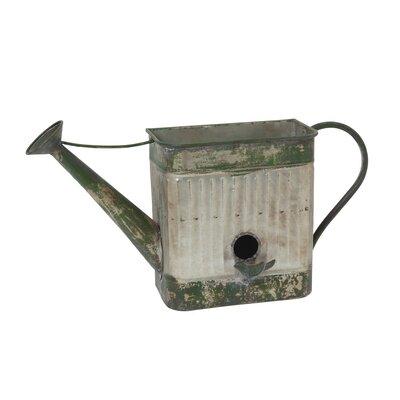 Hammons Metal Water Can Birdhouse Planter