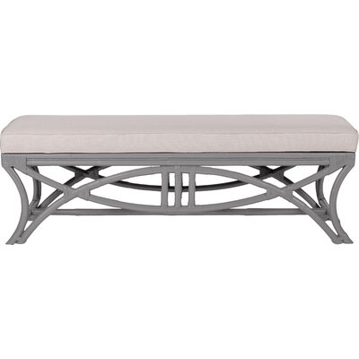 Bridgeport Wicker Bench Color: Light Gray