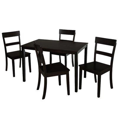 Beacher 5 Piece Dining Set Color: Black