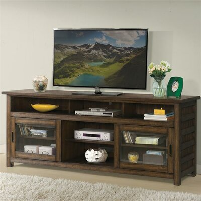 """Wootton 74"""" TV Stand Color: Brushed Acacia"""