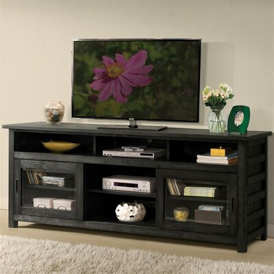 "Wootton 74"" TV Stand Color: Ebonized Acacia"