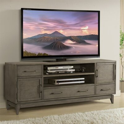 """Workman 74"""" TV Stand Color: Gray Wash"""