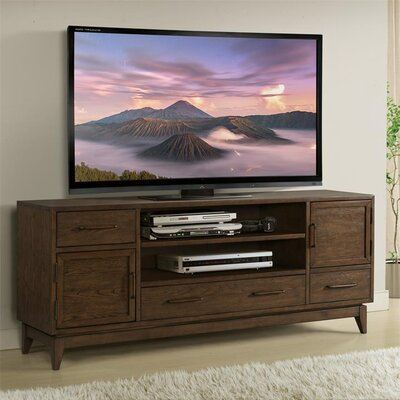 """Workman 74"""" TV Stand Color: Plymouth Brown Oak"""