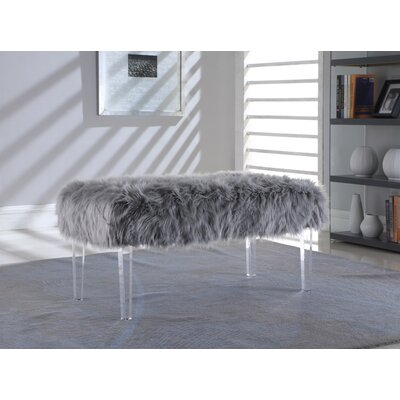 Hefley Fur Bench Upholstery: Dark Gray