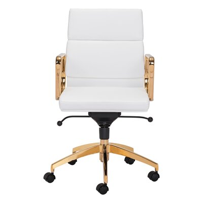 Lakes Low Back Office Chair Color: White