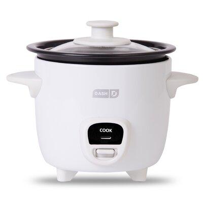 2 Cup Mini Rice Cooker Color: White