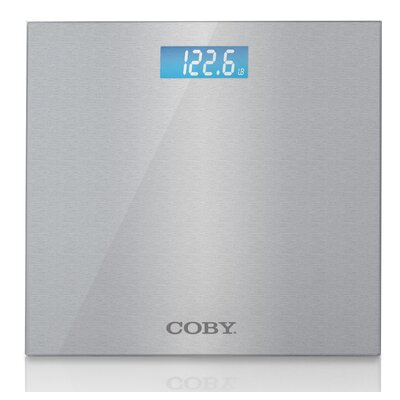 Brushed Metal Bathroom Digital Scale