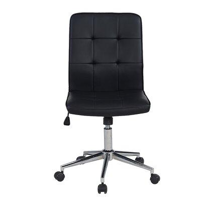 Shufelt Tufted Office Chair Upholstery: Black