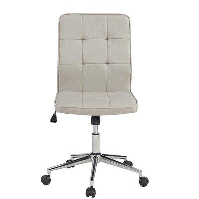 Shufelt Tufted Office Chair Upholstery: Gray