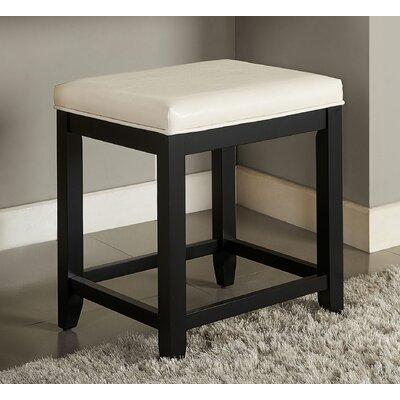 Manette Vanity Stool Frame Color: Black