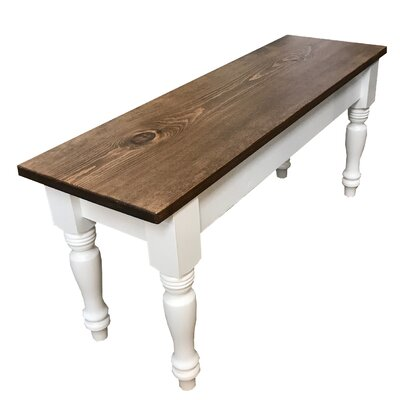 "Gephart Farmhouse Wood Bench Size: 17"" H x 48"" W x 12"" D"