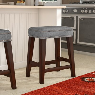 "Bloomer Bar & Counter Stool Seat Height: Counter Stool (24.5"" Seat Height), Upholstery: Solid Gray"