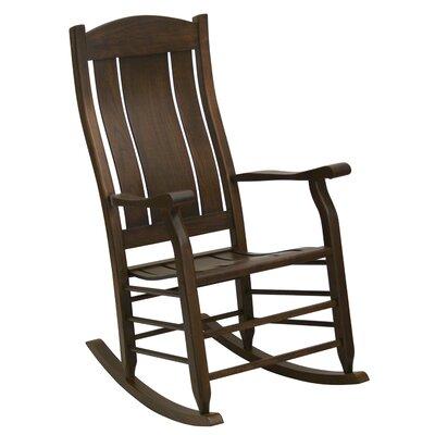 Grindle Slat Back Rocking Chair Color: Brown