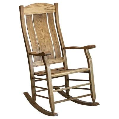 Grindle Slat Back Rocking Chair Color: Maple
