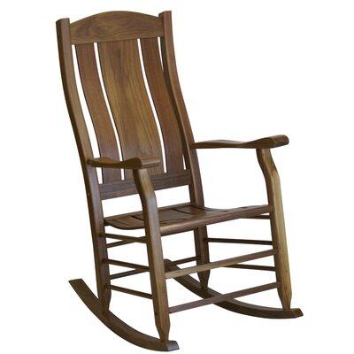 Grindle Slat Back Rocking Chair Color: Walnut