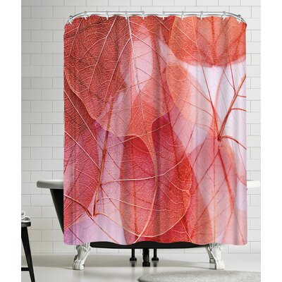Delicate Shower Curtain Color: Venetian Red