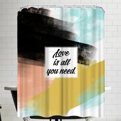 Annie Bailey Love Is All You Need Shower Curtain