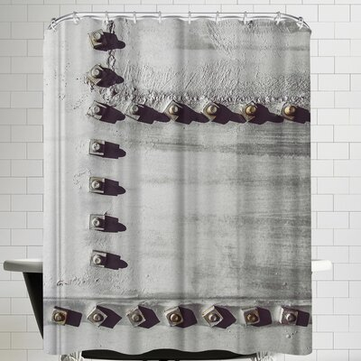 Annie Bailey Rivets No III Shower Curtain