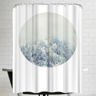 Annie Bailey White Forest Shower Curtain