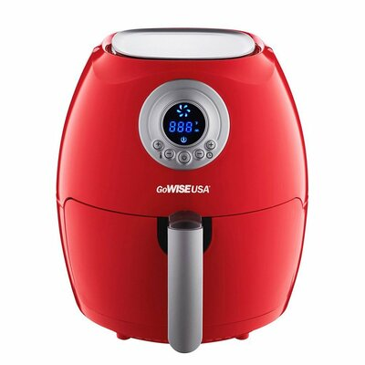 Digital Air Fryer with Recipe Book Color: Red